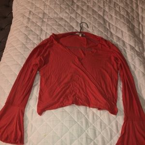 Lucky Brand Crop with flared sleeves